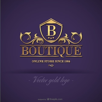 Gold boutique-logo-design