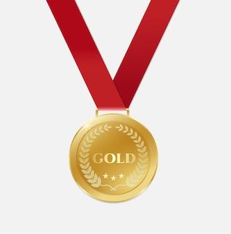 Gold champion medaillen mit band.