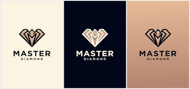 Gold creative diamond logo und icon design template, diamond logo für diamond logo. erstaunliches schmucklogo