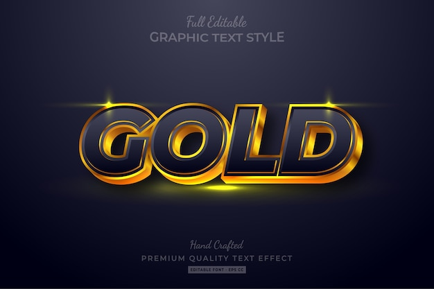 Gold editable text style effect premium