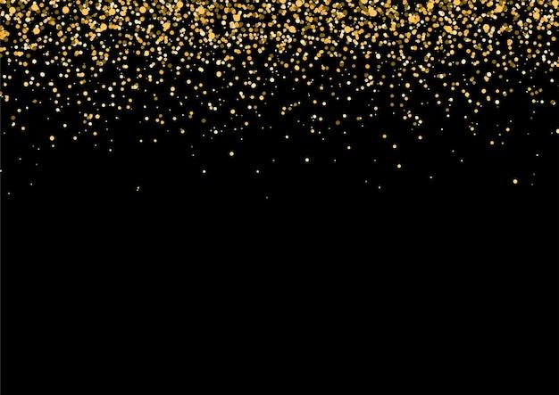 Gold fallender glitzer Premium Vektoren