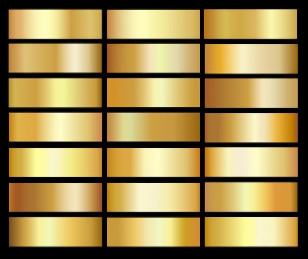 Gold farbverläufe vorlagensatz