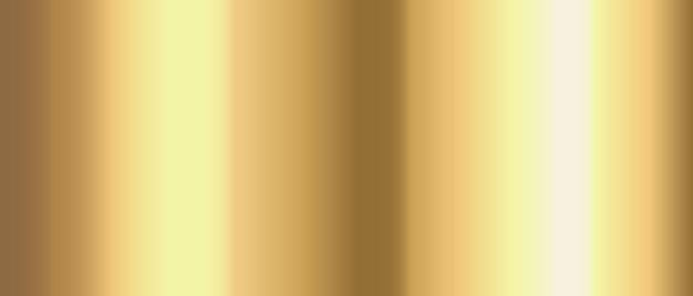Gold farbverlauf chromfolie textur hintergrund. vektor-vorlage aus gold, kupfer, messing und metall.