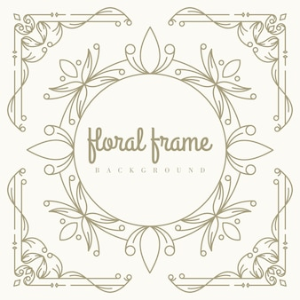 Gold floral frame hintergrundvorlage