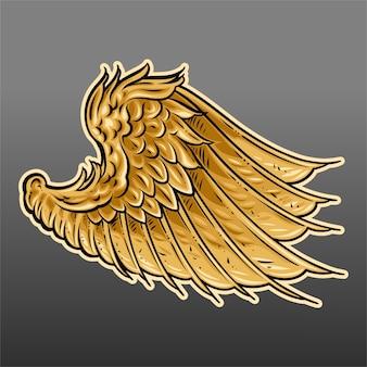 Gold flügel