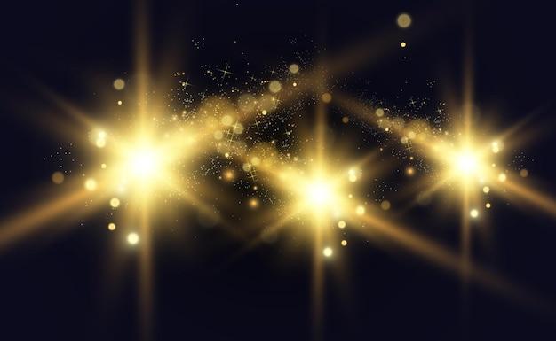 Gold funkelt, helles licht.