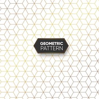 Gold geometrisches hexagon-muster
