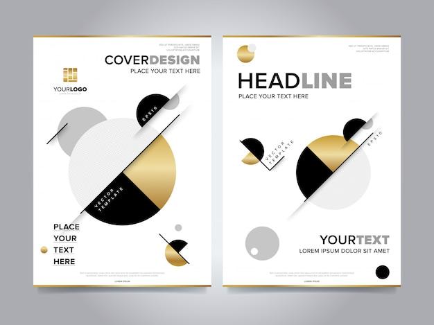 Gold-geschäftsbericht broschüre cover