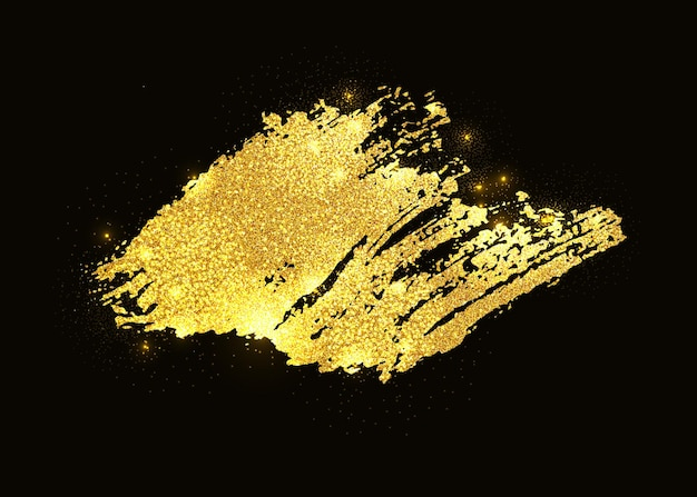 Gold glitter farbe abstrich strich fleck.