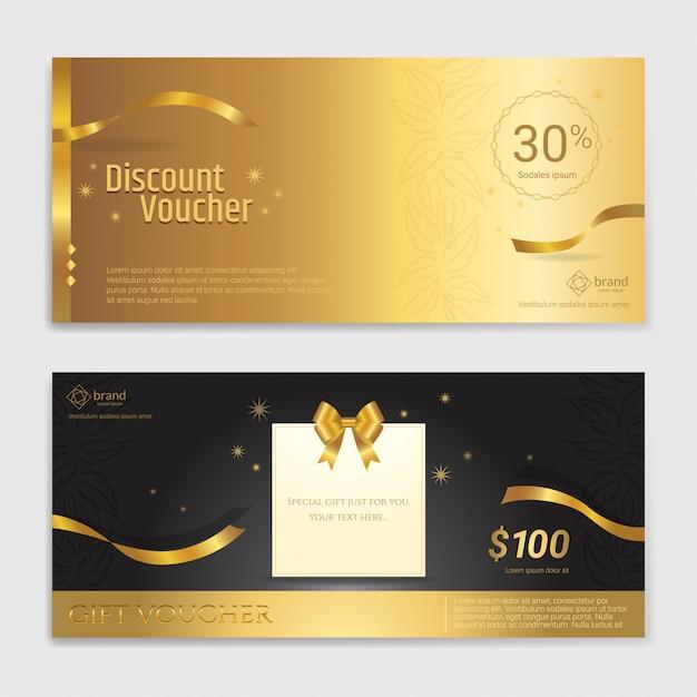 Gold-glitter-geschenkgutschein, zertifikat, gutschein für festtage
