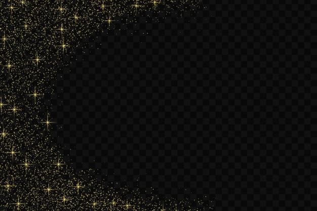 Gold glitter konfetti muster.