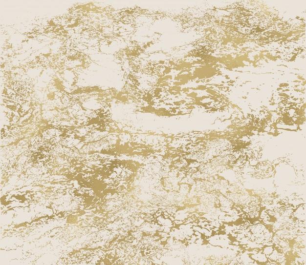Gold grunge textur. patina kratzt goldene elemente. trendige textur in pastell- und goldfarben.