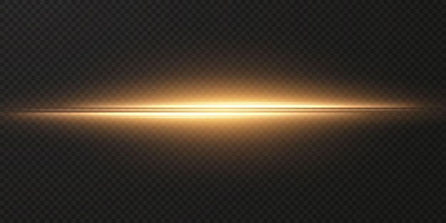 Gold horizontale lens flares pack laserstrahlen horizontale lichtstrahlen png-effektlicht gold