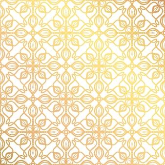 Gold islamisches nahtloses muster für die feiertagsdekoration. vektor-illustration