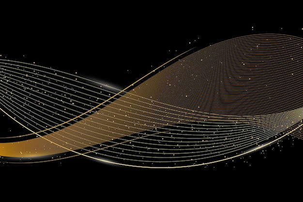 Gold luxus hintergrund konzept Premium Vektoren