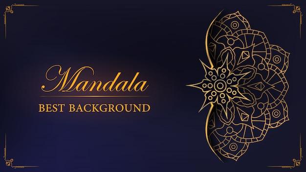 Gold mandala hintergrund