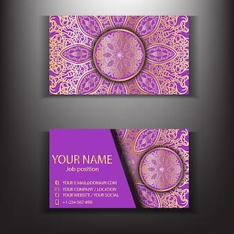Gold mandala luxus visitenkarte design-vorlage