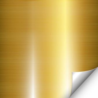 Gold metall silber ecke