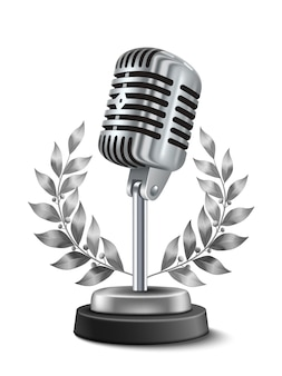 Gold microphone award