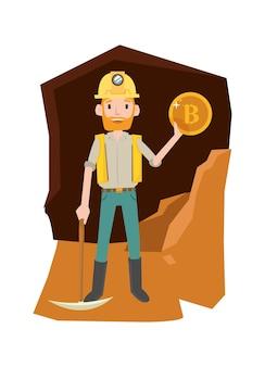 Gold miner erhalten die ergebnisse nach dem graben