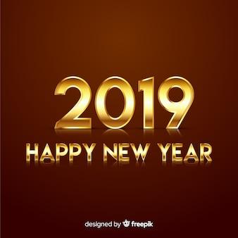 Gold neujahr hintergrund