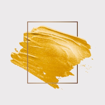 Gold pinselstrich