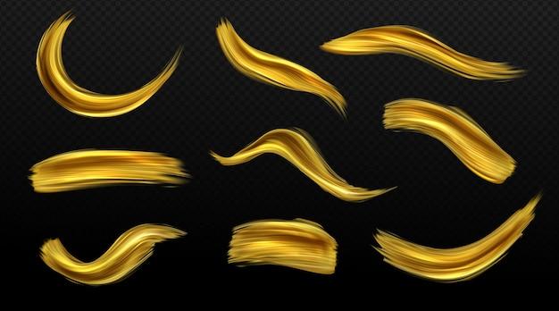 Gold pinselstriche eingestellt