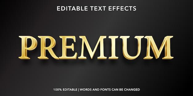 Gold premium bearbeitbarer texteffekt