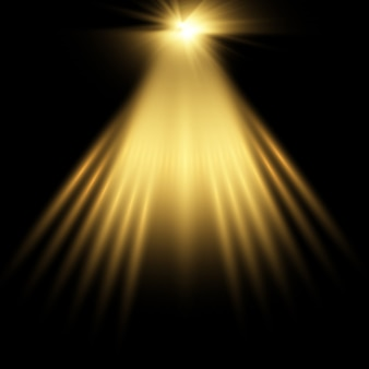 Gold rampenlicht hintergrund