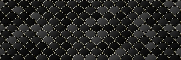 Gold, schwarzer farbverlauf farbkreis nahtlosen musterhintergrund, linie geometrischen luxus, minimaler designstil