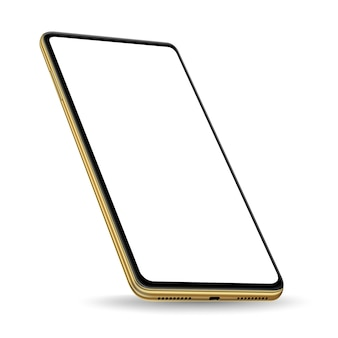 Gold smartphone-präsentation