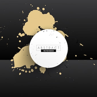 Gold splash design border
