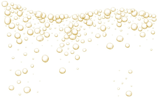Gold sprudelnde blasen sparkles champagner abstrakte frische limonade und luftblasen sauerstoff champagnerkristall