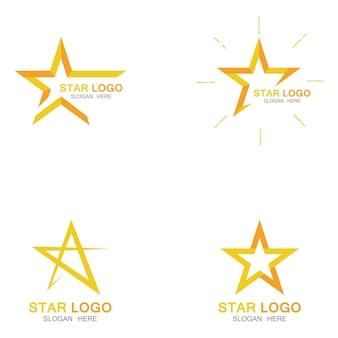 Gold star logo vektor im eleganten stil mit schwarzem hintergrundgold star logo vektor im eleganten stil mit schwarzem hintergrund