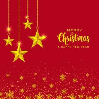 Gold start frohe weihnachten