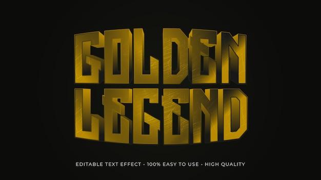 Gold-texteffekt-konzept