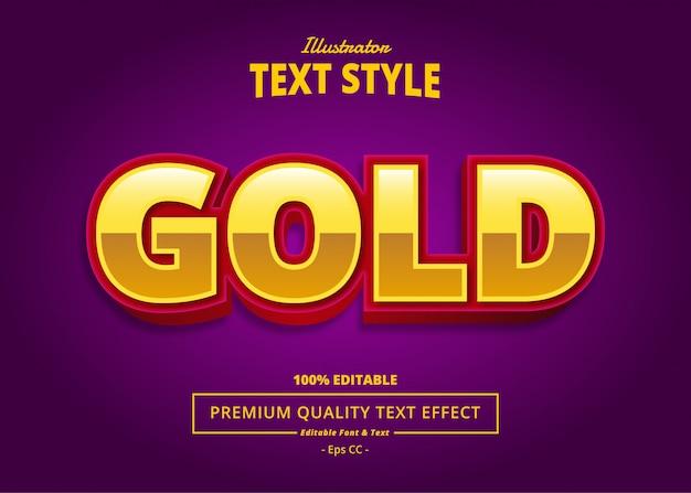 Gold-texteffekt Premium Vektoren