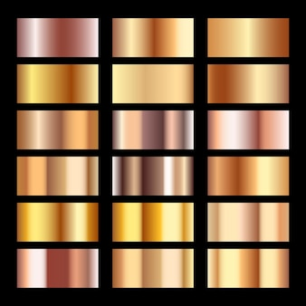 Gold textur-set
