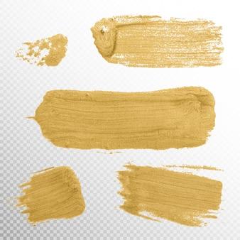 Gold texture paint stain illustration.