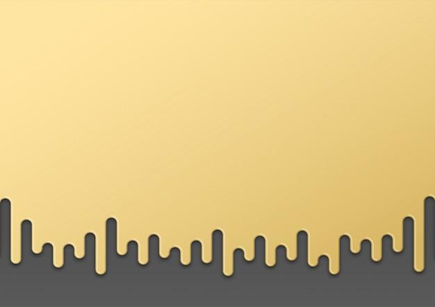 Gold tropft nach unten 3d-form hintergrund