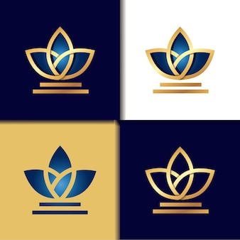 Gold tulip logo