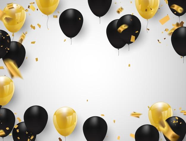 Gold und schwarze ballons