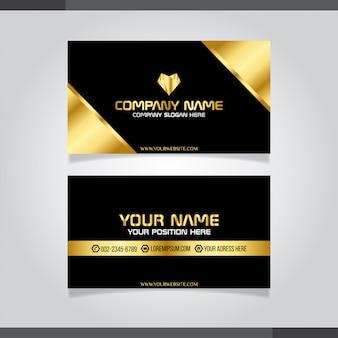 Gold und schwarze moderne kreative visitenkarte und namenskarte
