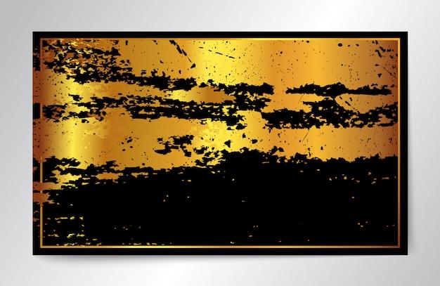 Gold und schwarzer hintergrund in der grunge art