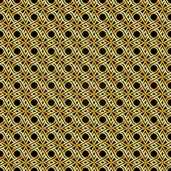 Gold und schwarzes muster nahtlos den hintergrund