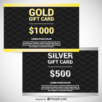 Gold und silber geschenkkarten
