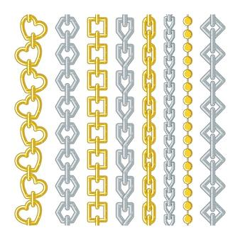 Gold- und silberketten