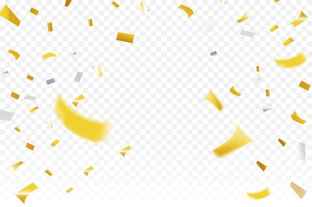 Gold- und silberkonfetti