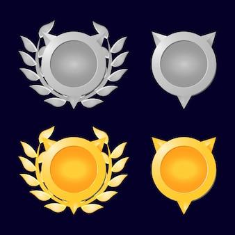 Gold- und silbermedaille