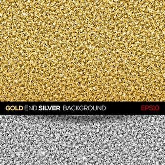 Gold- und silberne glitzertextur